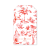 Red Toile Crest Gift Tags