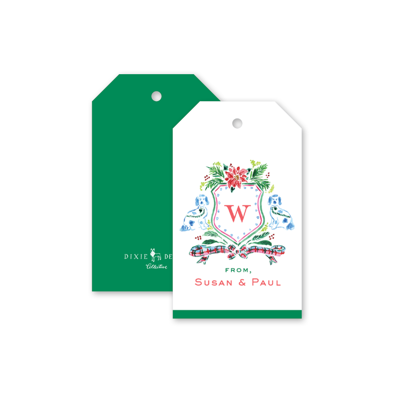 Holiday Cheer Crest Gift Tags