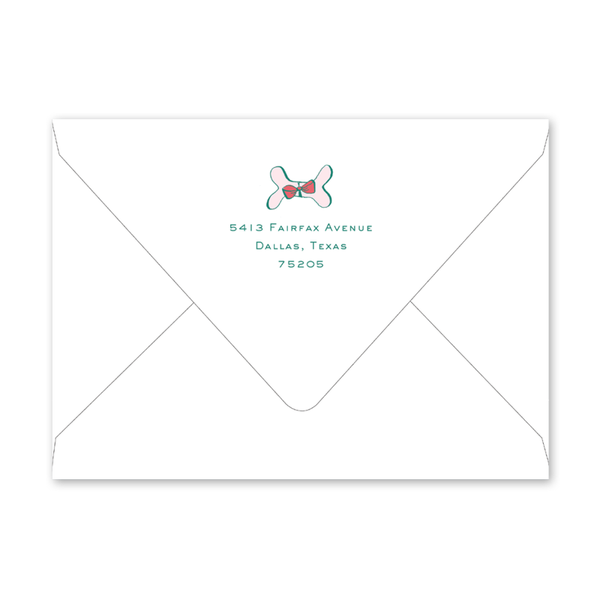 Holiday Hound Pink Envelopes