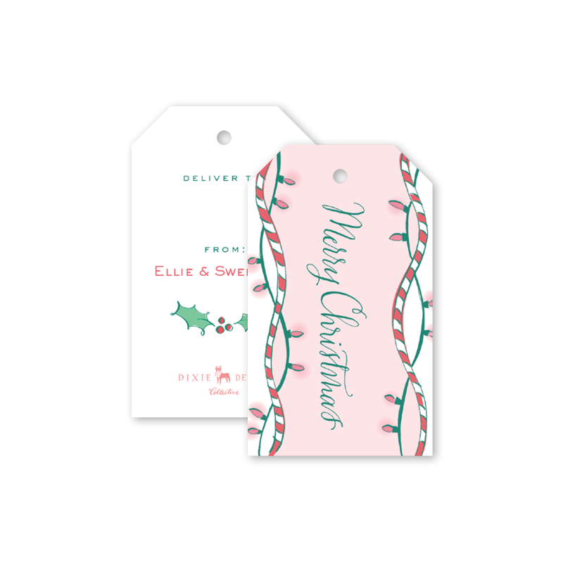 Holiday Hound Pink Gift Tags