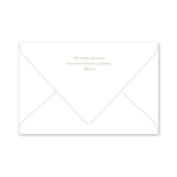 Staffordshire Dogs Gold Envelopes