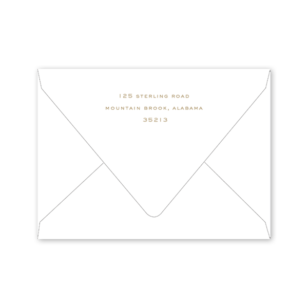 Staffordshire Dogs Gold Invitation Envelopes