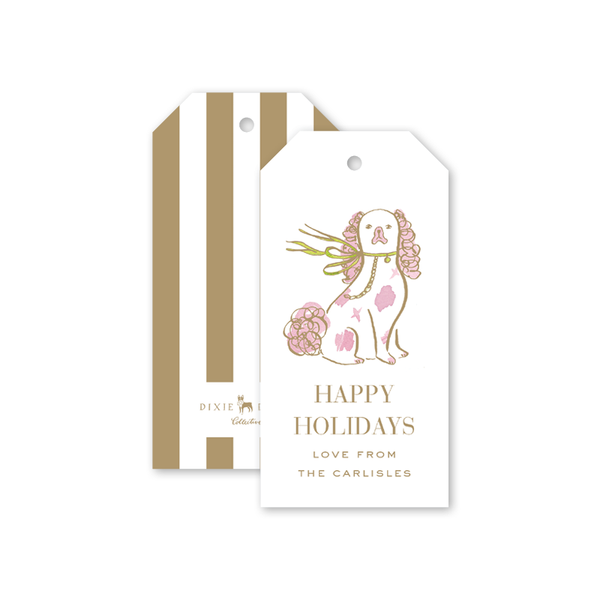 Staffordshire Dog Gold Gift Tags