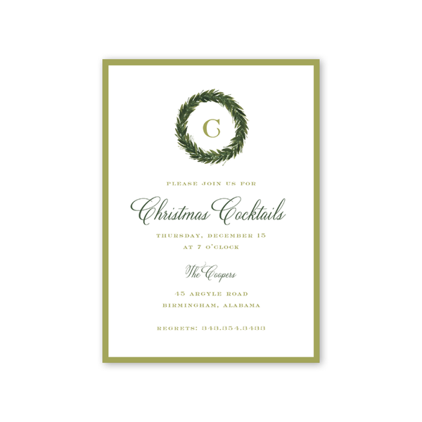 Christmas Greenery Invitation