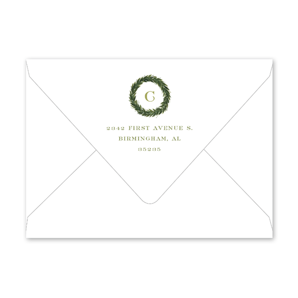 Christmas Greenery Landscape Envelopes