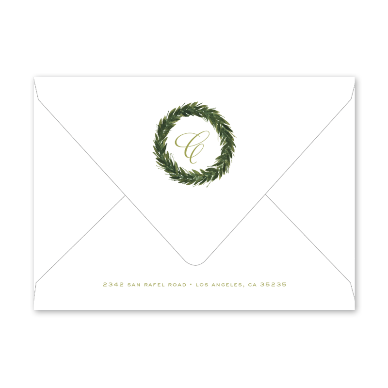 Christmas Greenery Portrait Envelopes