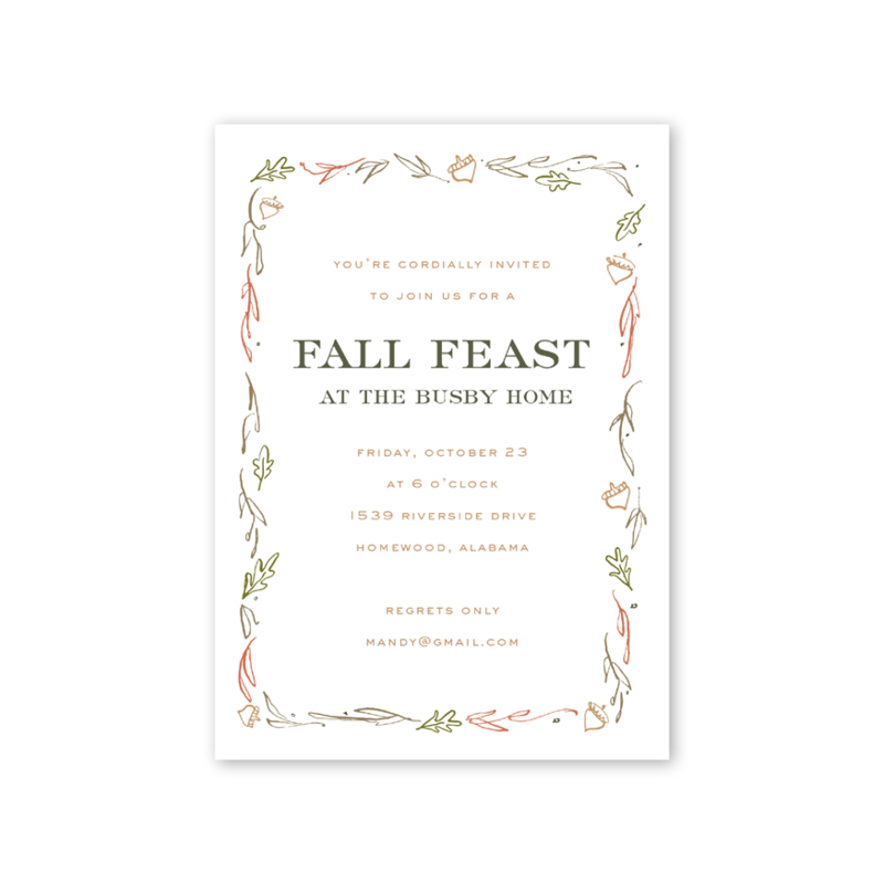 Acorn Feast Invitation