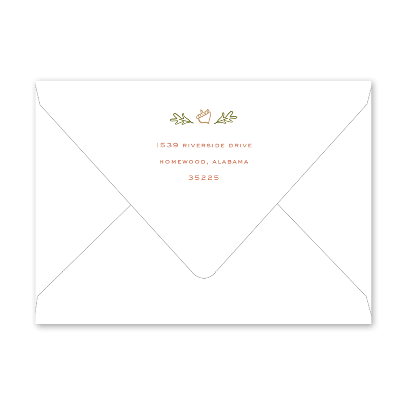 Acorn Feast Invitation Envelopes