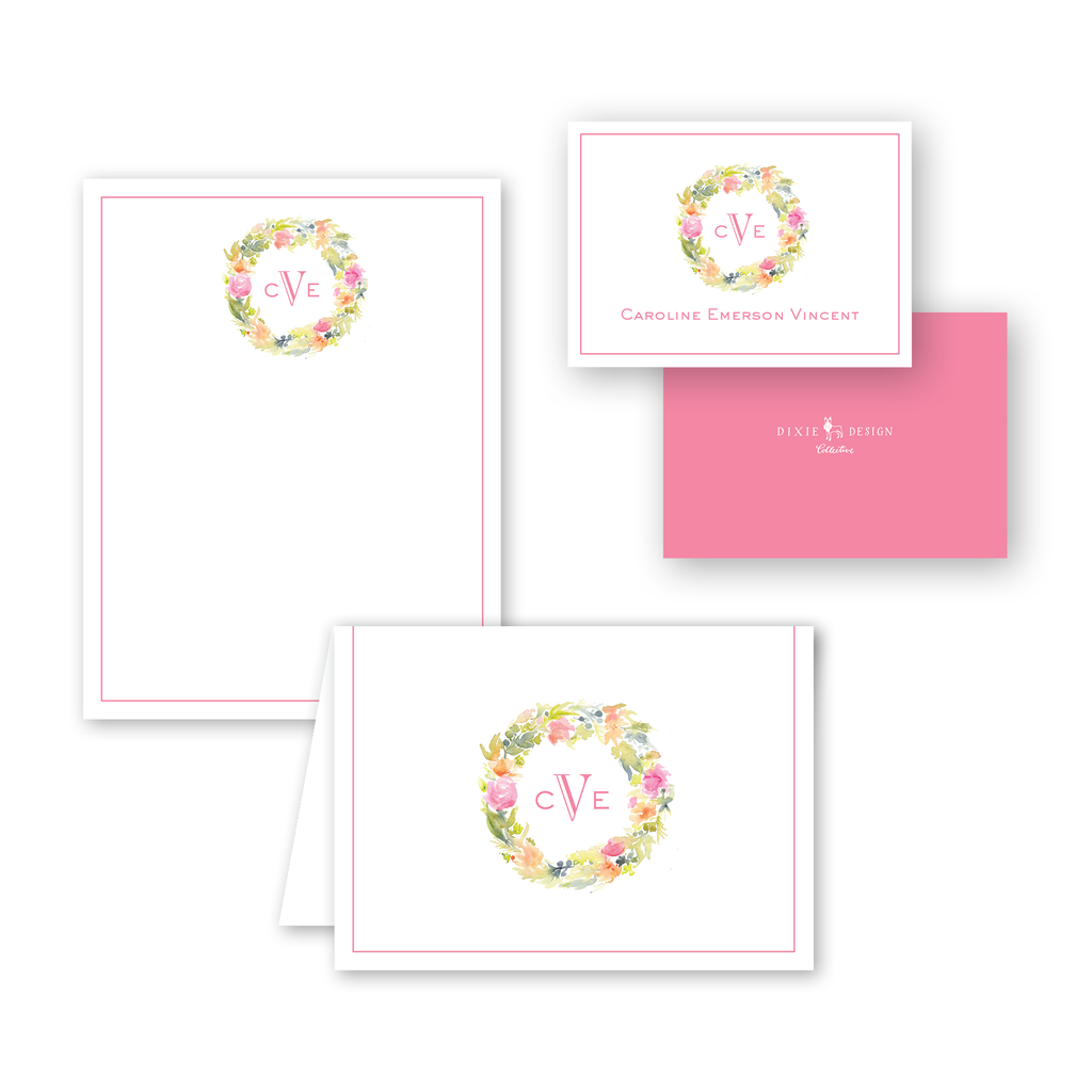 Floral Watercolor Wreath Gift Set
