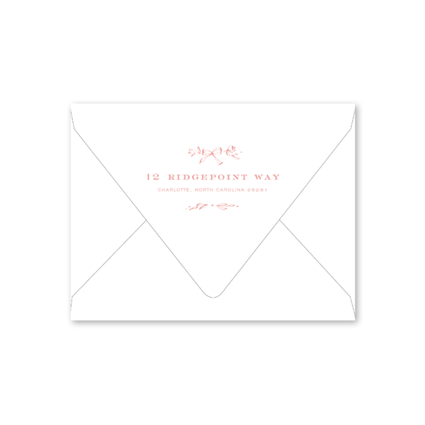 Floral Frames Pink Birth Announcement Envelopes