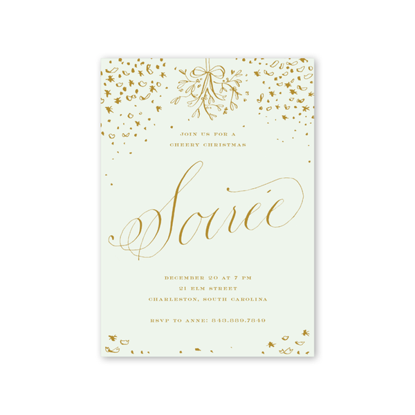 Confetti Soiree Gold Invitation