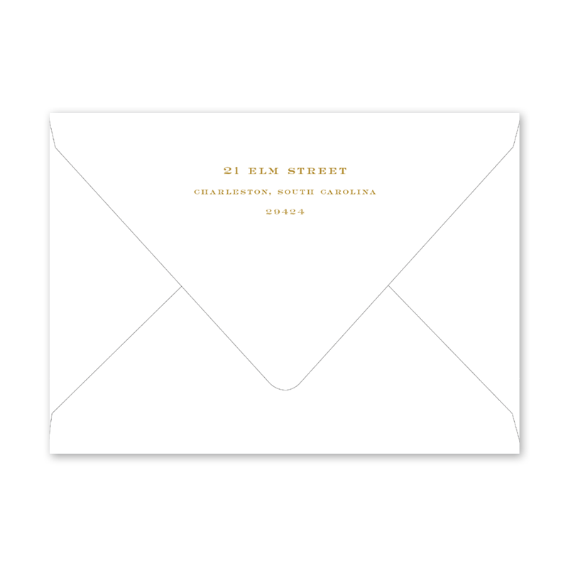Confetti Soiree Gold Envelopes
