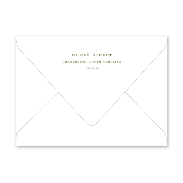 Confetti Soiree Green Envelopes