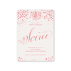 Confetti Soiree Red Invitation