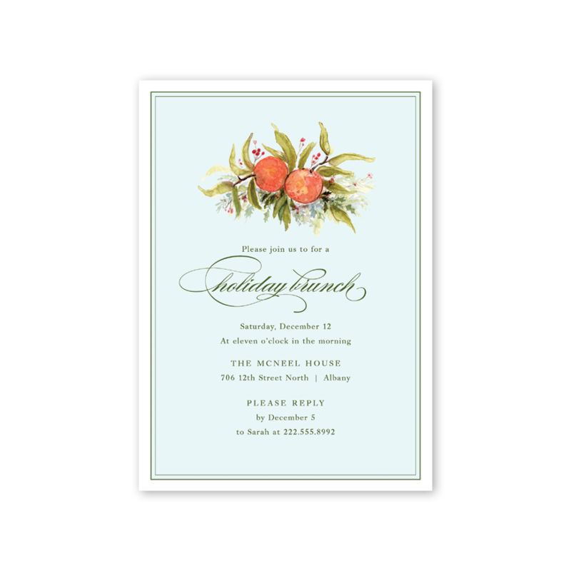 Citrus Blossom Invitation