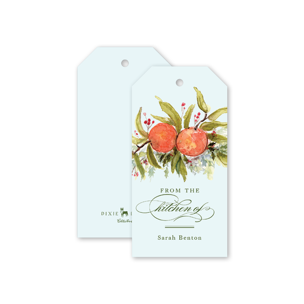 Citrus Blossom Kitchen Gift Tags