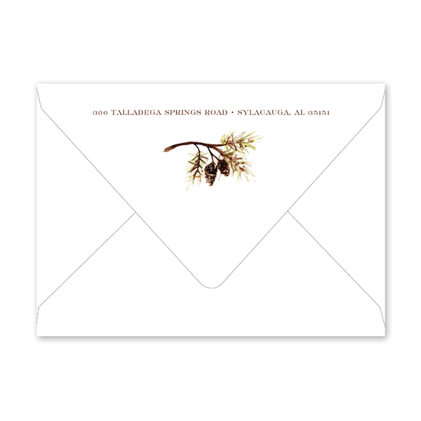 Pines and Vines Fall Invitation Envelopes