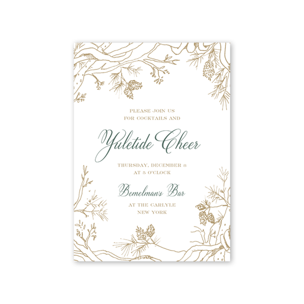 Pines and Vines Winter Invitation