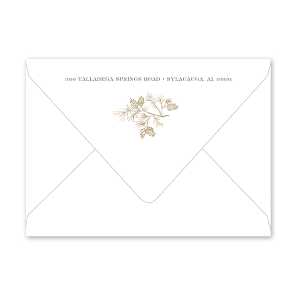 Pines and Vines Winter Invitation Envelopes