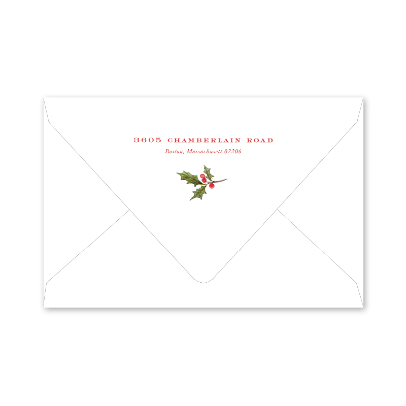 Poinsettia and Holly Envelopes