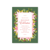 Poinsettia and Holly Invitation
