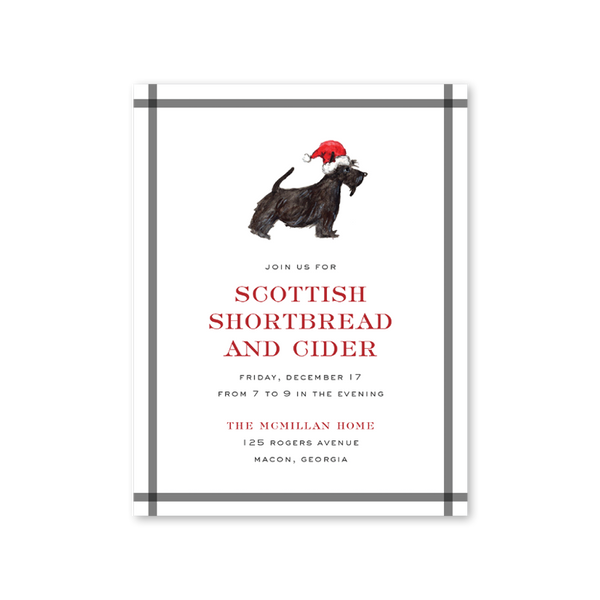 Santa Scottie Invitation