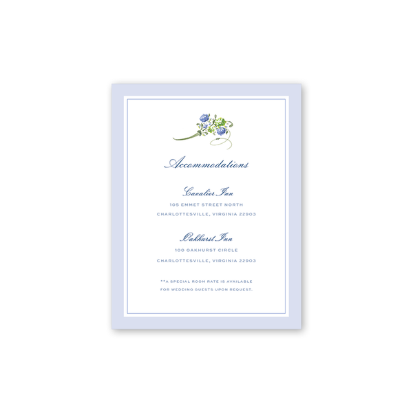 Hydrangea Accommodations Cards
