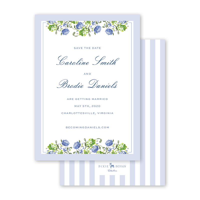 Hydrangea Floral Save The Date