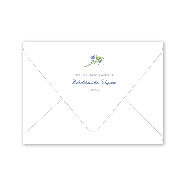 Hydrangea Floral Save the Date Envelopes