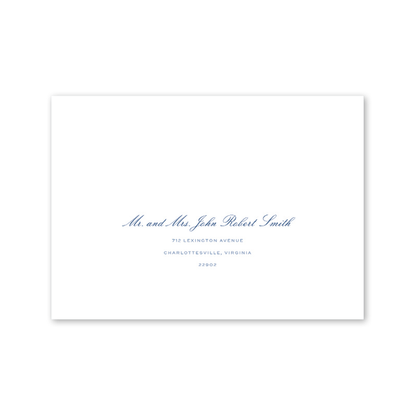 Hydrangea Recipient Address Printing