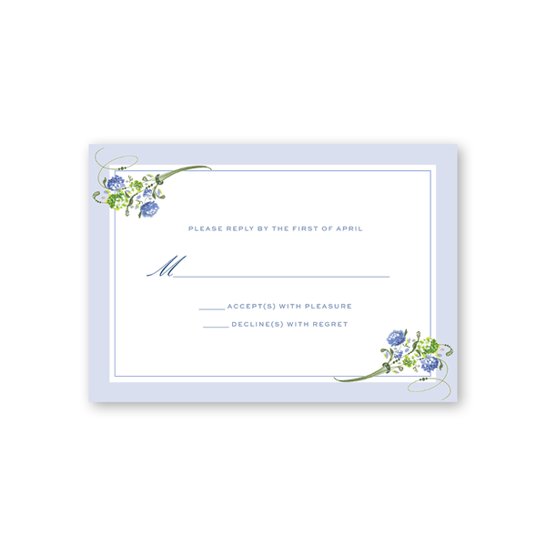 Hydrangea Reply Card