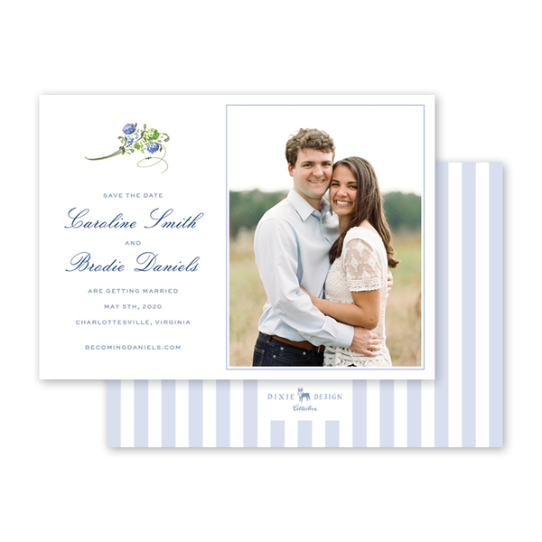 Hydrangea Save The Date with Photo