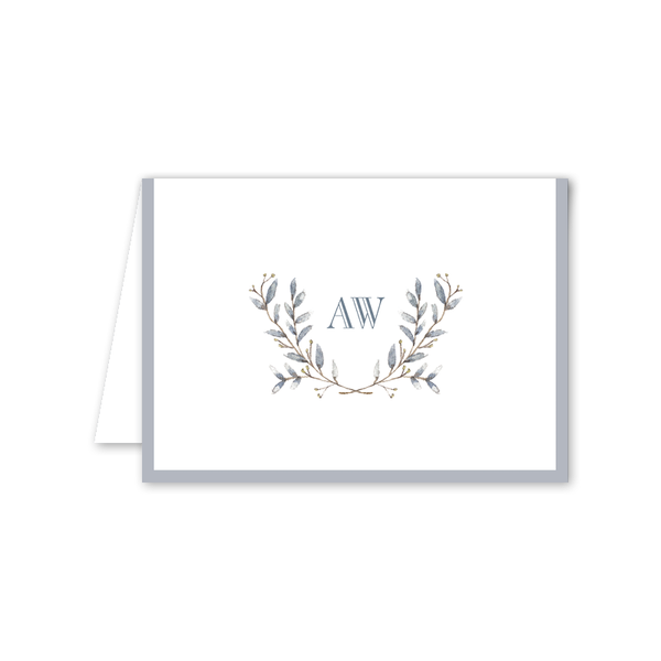 Laurel Folded Notecard