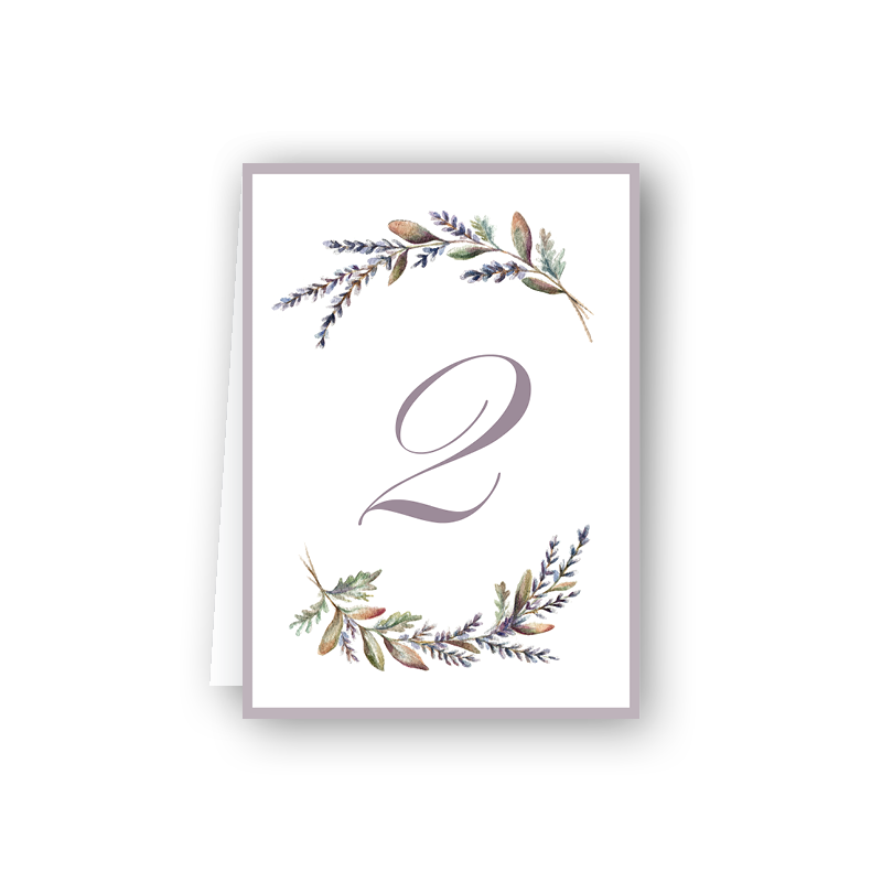 Lavender Table Numbers