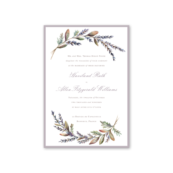 Lavender Wedding Invitation