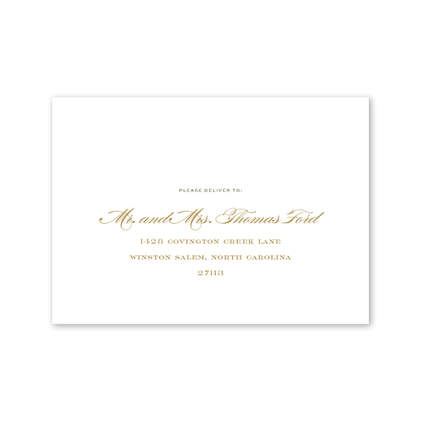 Botanic Recipient Address Printing