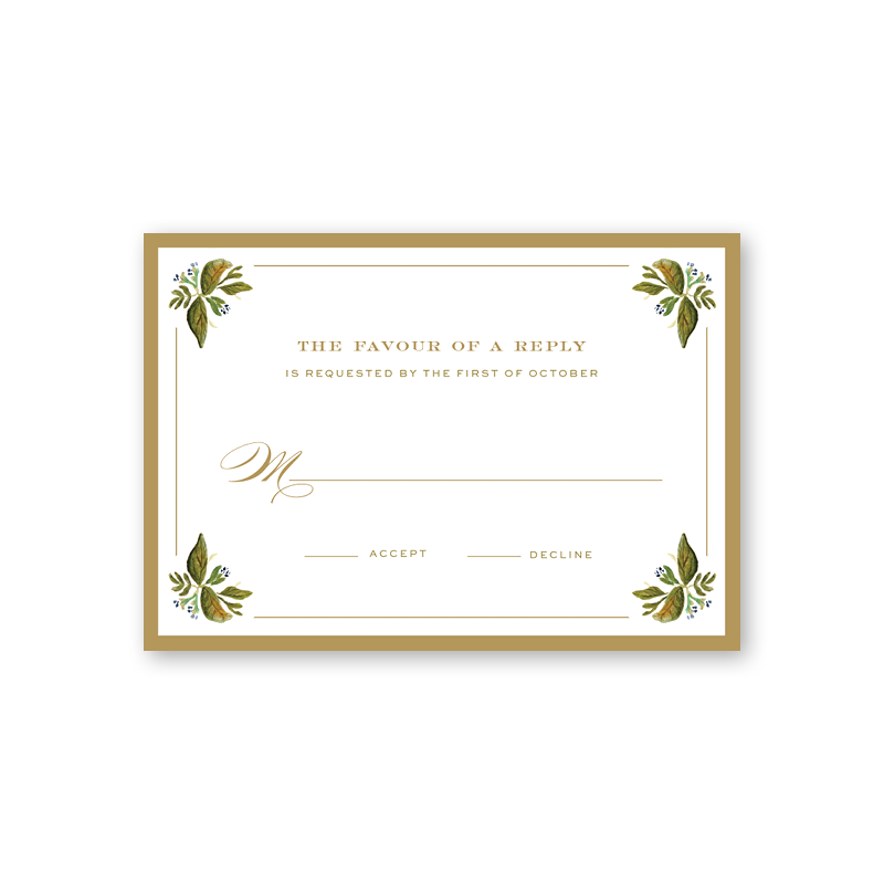 Botanic Reply Card