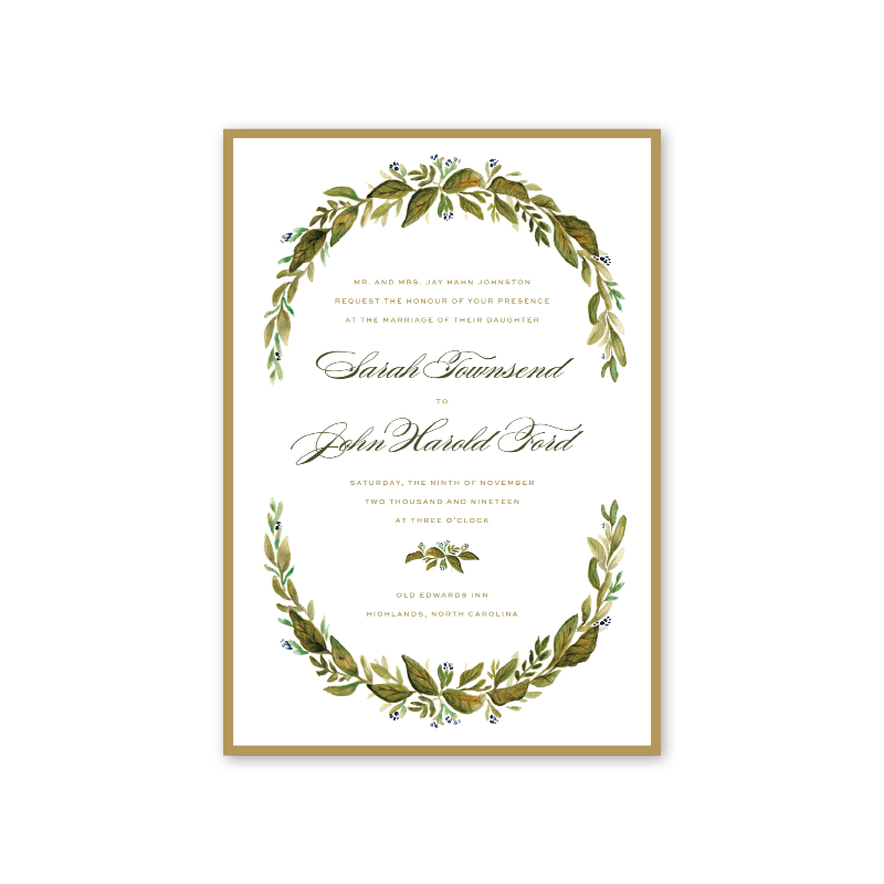 Botanic Wedding Invitation