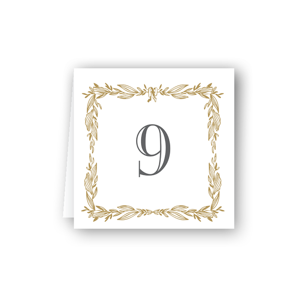 Gild Table Numbers