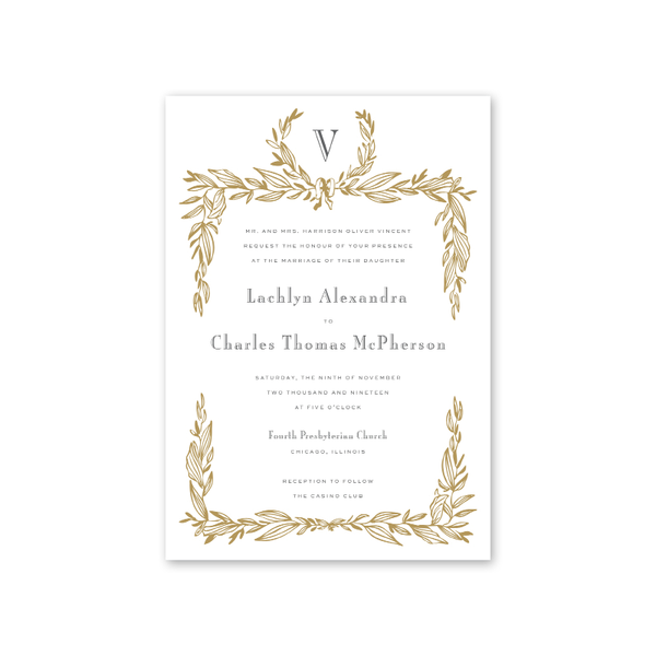 Gild Wedding Invitation