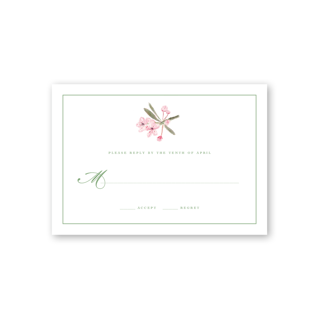 Blossom Reply Card