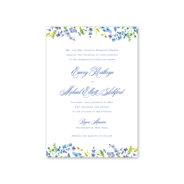 Hampton Floral Wedding Invitation