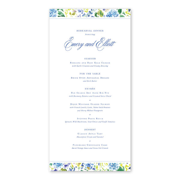 Hampton Dinner/Party Menu