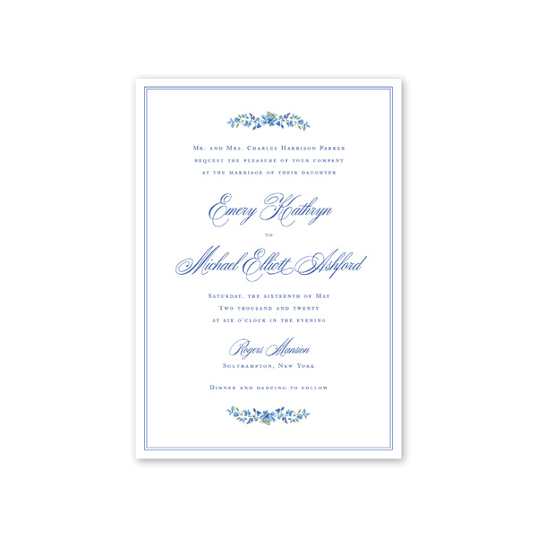 Hampton Wedding Invitation