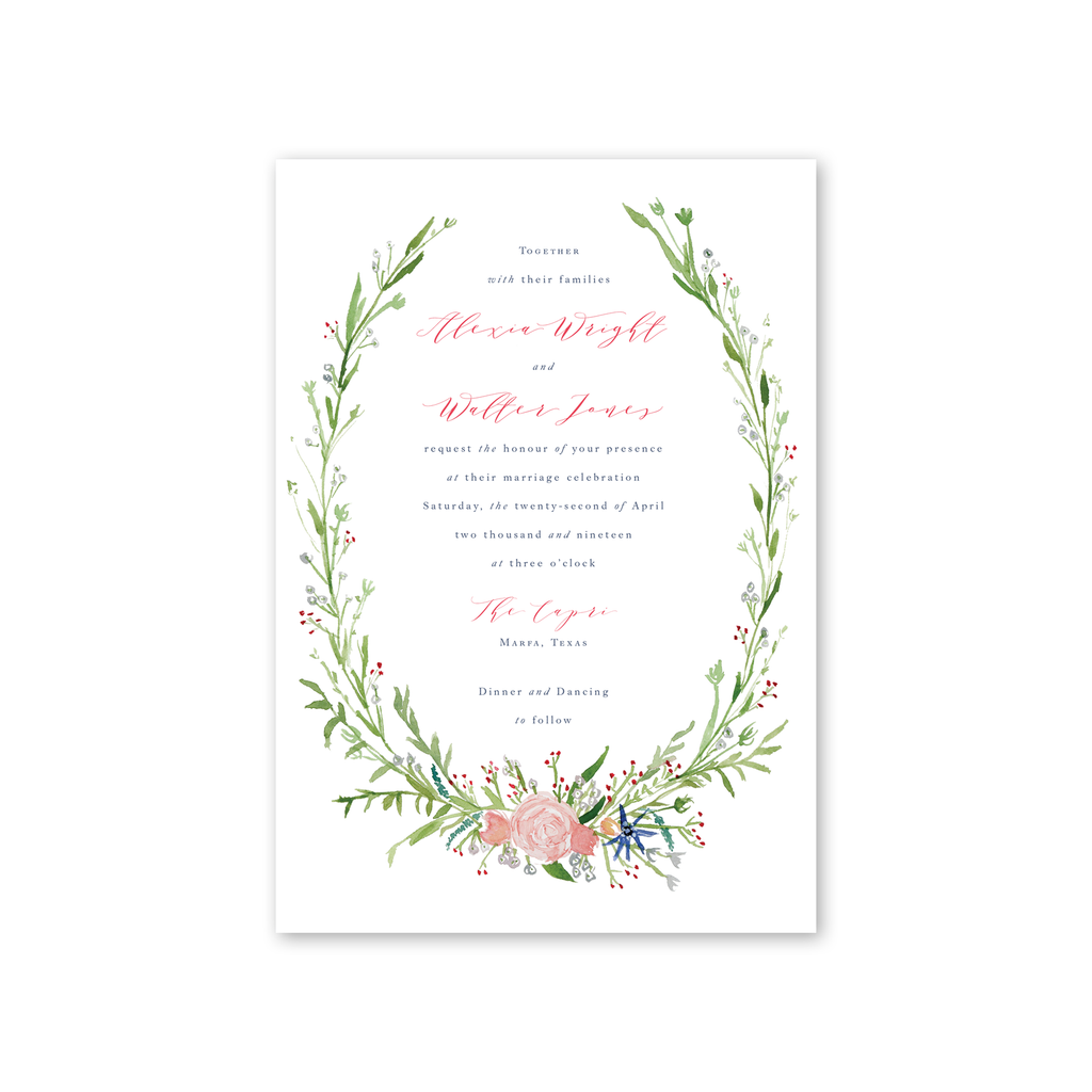 Eden Wedding Invitation