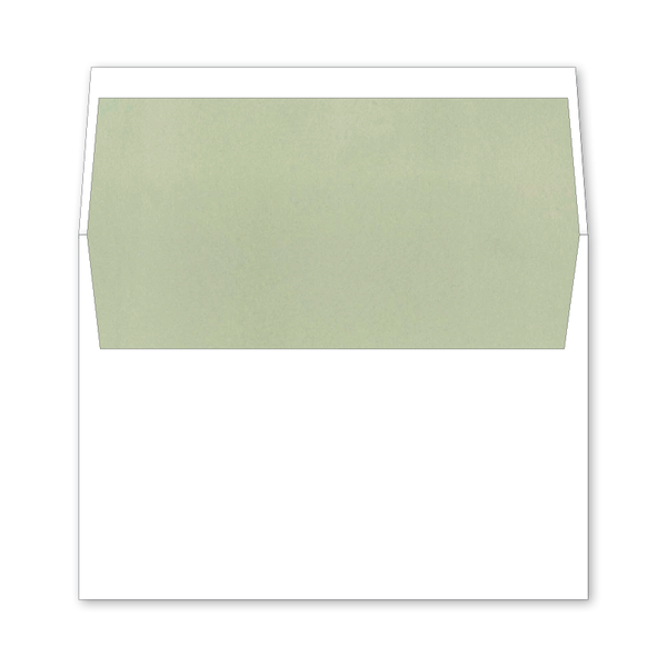 Greenery Wedding Invitation Envelope Liner