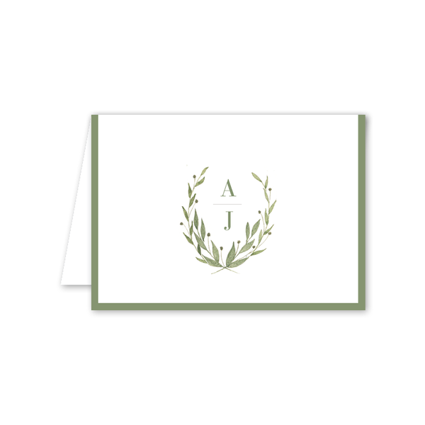 Greenery Folded Notecard
