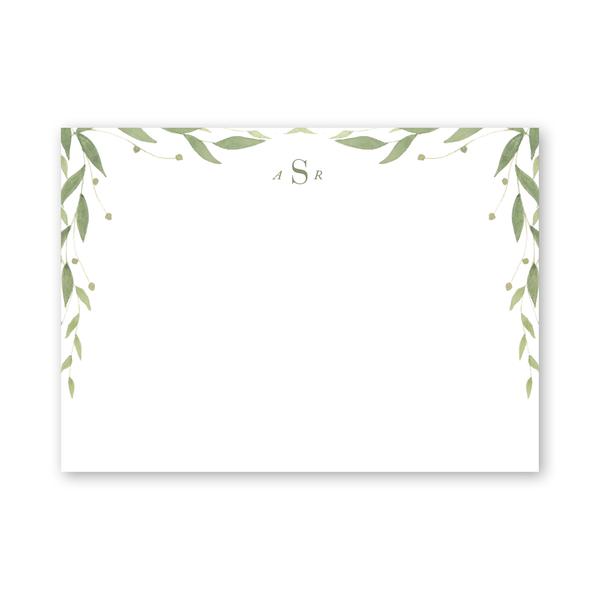 Greenery Notecard
