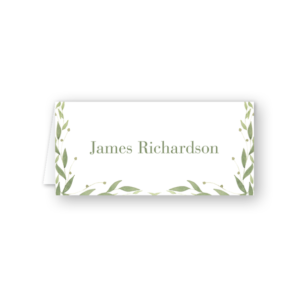 Greenery Place Card
