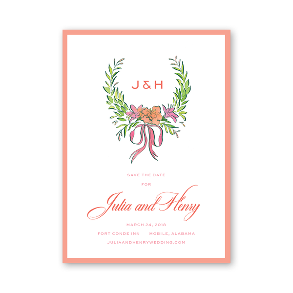 Azalea Wreath Save The Date